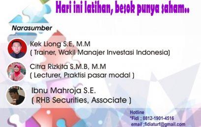 Pelatihan pasar modal STIE BPKP