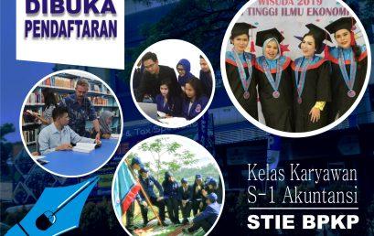 Pendaftaran Mahasiswa Baru STIE BPKP Tahun 2020