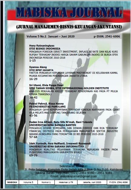 MABISKA JOURNAL Vol.05 No.1, Januari-Juni 2020